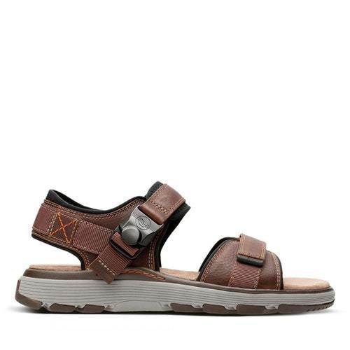 b01d814e4 NEW CLARKS MENS UN TREK PART - MENS SPORT SANDALS - DARK TAN LEATHER   fashion  clothing  shoes  accessories  mensshoes  sandals (ebay link)