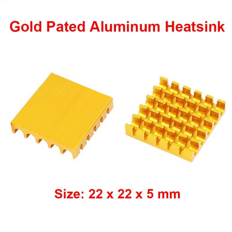 5pcs/lot Aluminum Heatsink 22x22x5mm Electronic Chip Cooling