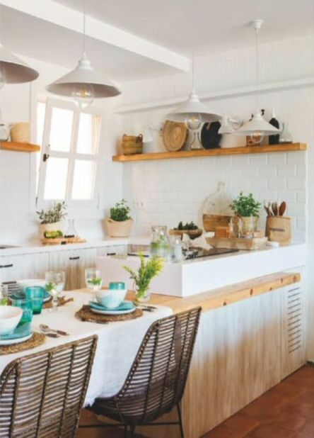 Seaside apartment wooden shelves architecture metroid beautiful interiors decoration house also pin by hanna alluiqrab on interior design pinterest kitchen rh