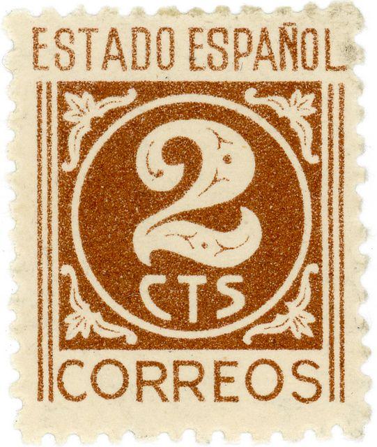 Her vintage postage stamp when bit