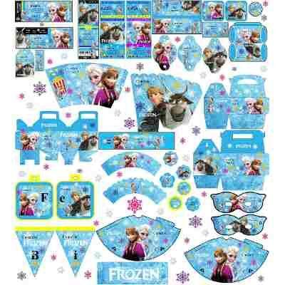 4 Kit Imprimibles Frozer Candy Bar Todas Las Golosinas -   130 cf17b77c4ae