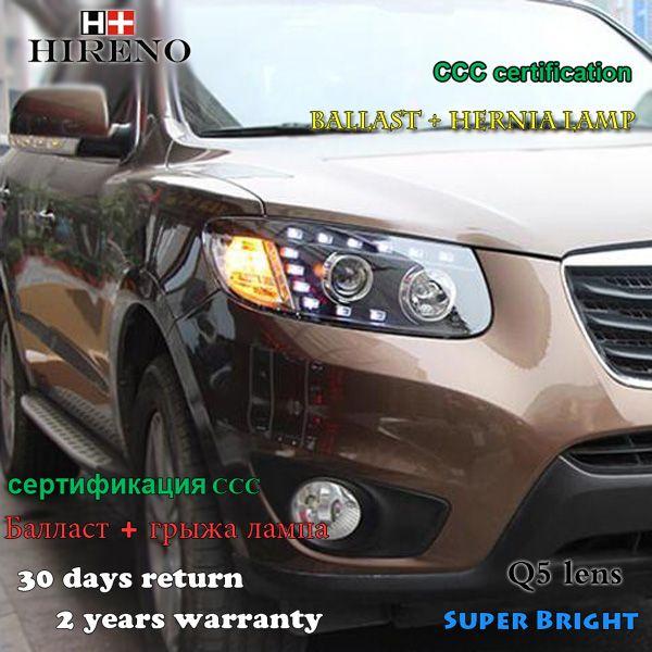 Hireno Headlamp For 2005 2008 Hyundai Santa Fe Headlight Assembly Led Drl Angel Lens Double Beam Hid Xenon 2pcs Headlight Assembly Car Lights Hid Xenon