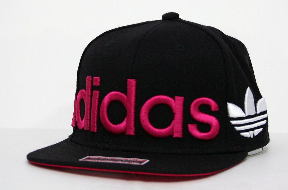 sports shoes f795d 43ee0 adidas Originals Embroidered Wrap Mens Snapback Hat Pink Black White  adidas   BaseballCap