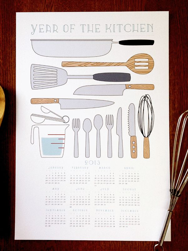 Year of the Kitchen Wall Calendar | Earmark Social