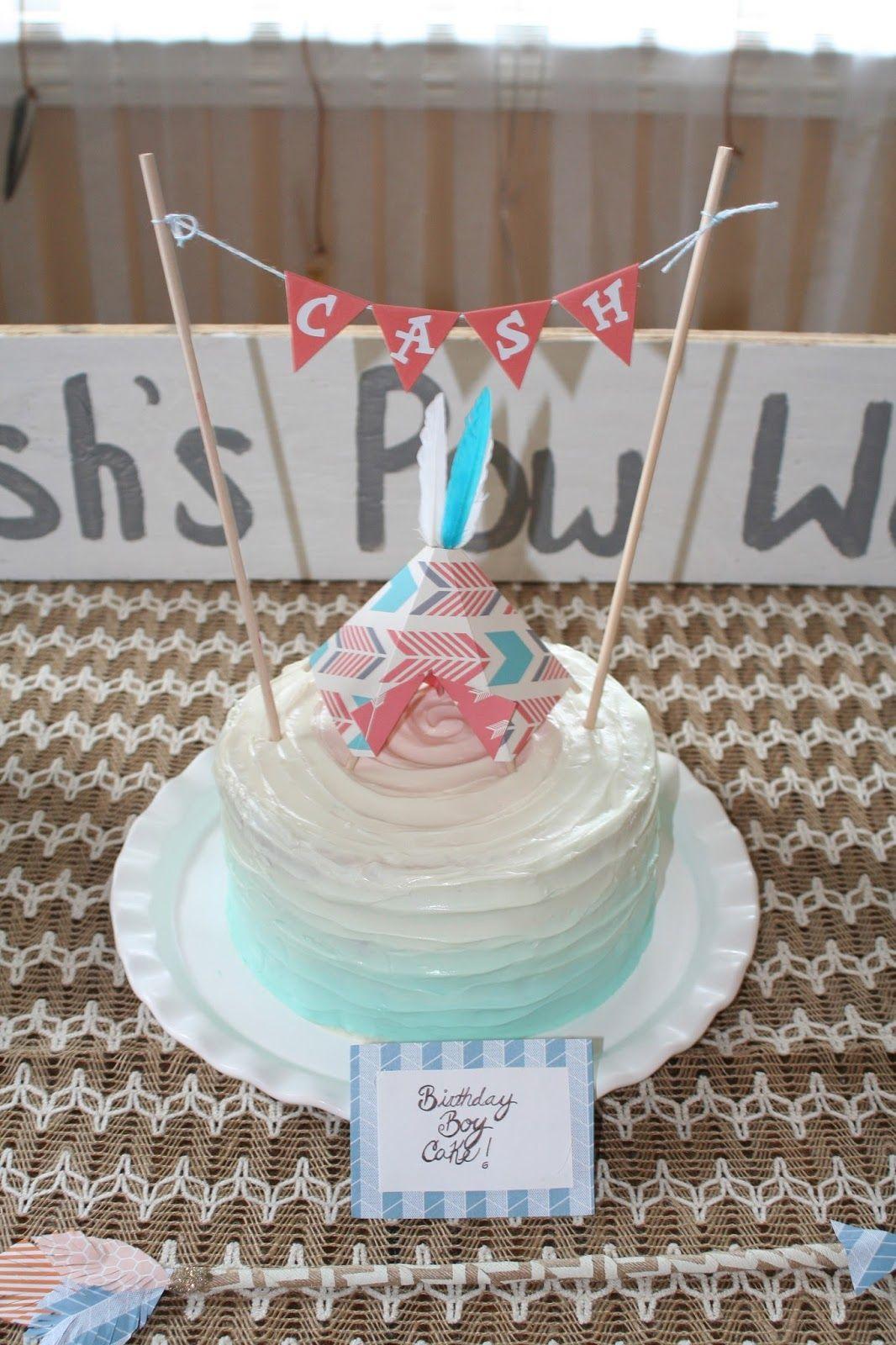 Ombre Cake Turquoise Cake Smash Cake Babys First Birthday Cake