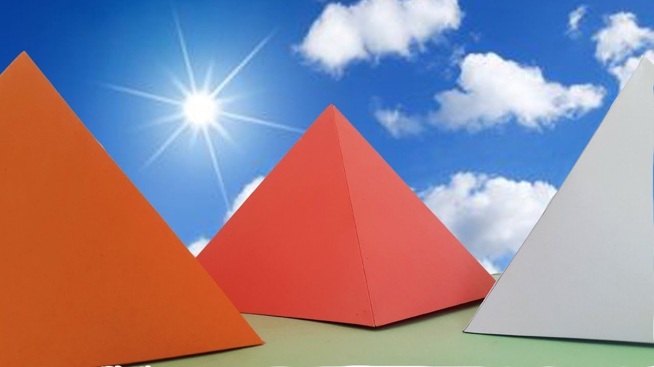 how to make a pyramid out of paper easy origami pyramids for