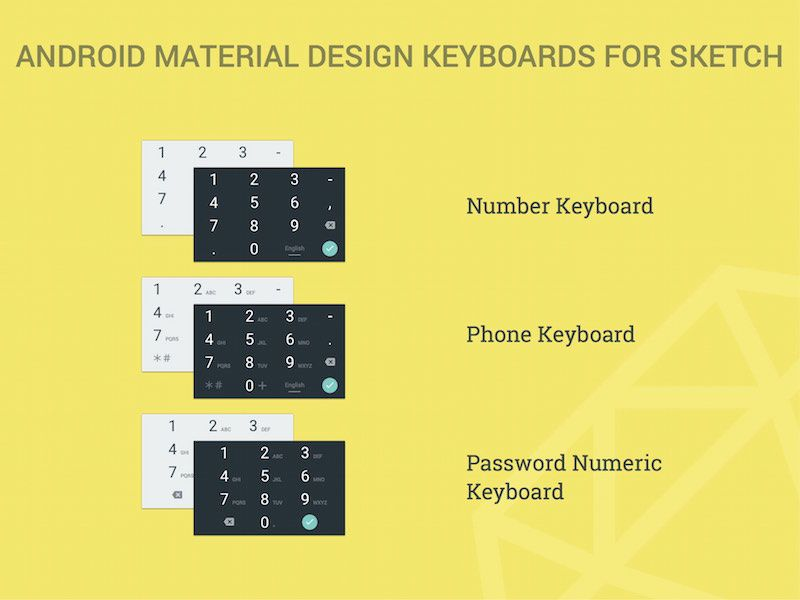 Android Material Design Numeric Keyboards Free Sketch App - free resume builder app for android