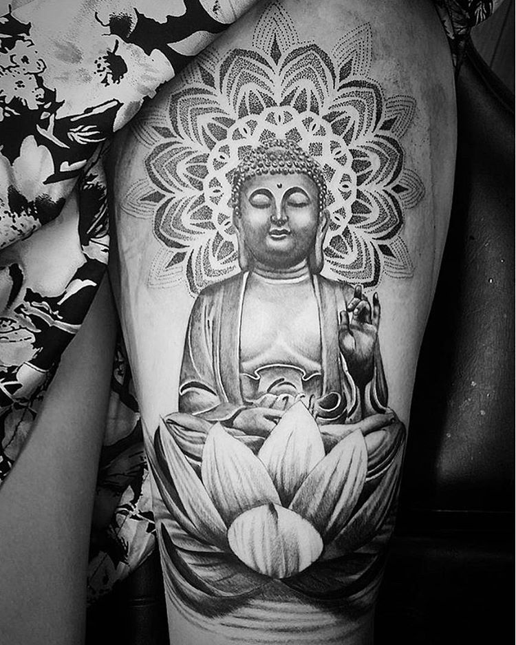 50 Mysterious Mandala Tattoo Meanings Designs Check More At Http Tattoo Journal Com 45 Mysterious Mandala Tatt Buddha Tattoo Design Buddhist Tattoo Tattoos