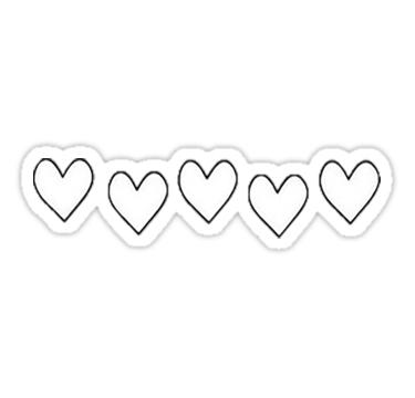 Love Hearts Sticker By Strangdesigns Hydroflask Stickers Black And White Stickers White Stickers