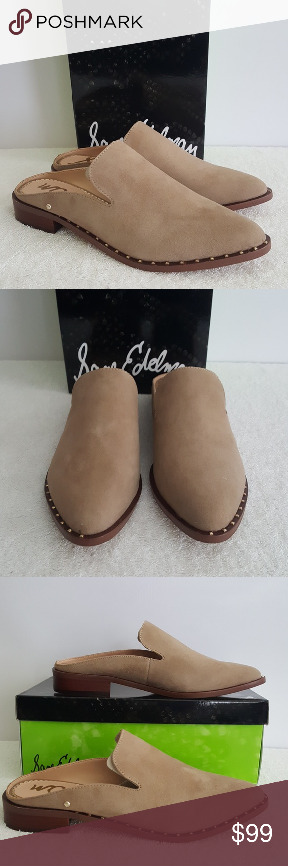 New Sam Edelman Lewellyn Leather Mule