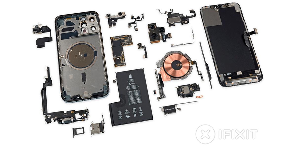 Ifixit Publica Las Imagenes Del Interior Del Iphone 12 Pro Max Bateria En L Y Nuevo Modulo De Camaras Iphone Modulos Camaras
