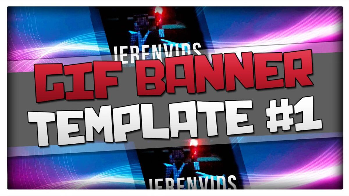 Gif Banner Template #24 (Minecraft Style Animated Banner For For Animated Banner Template