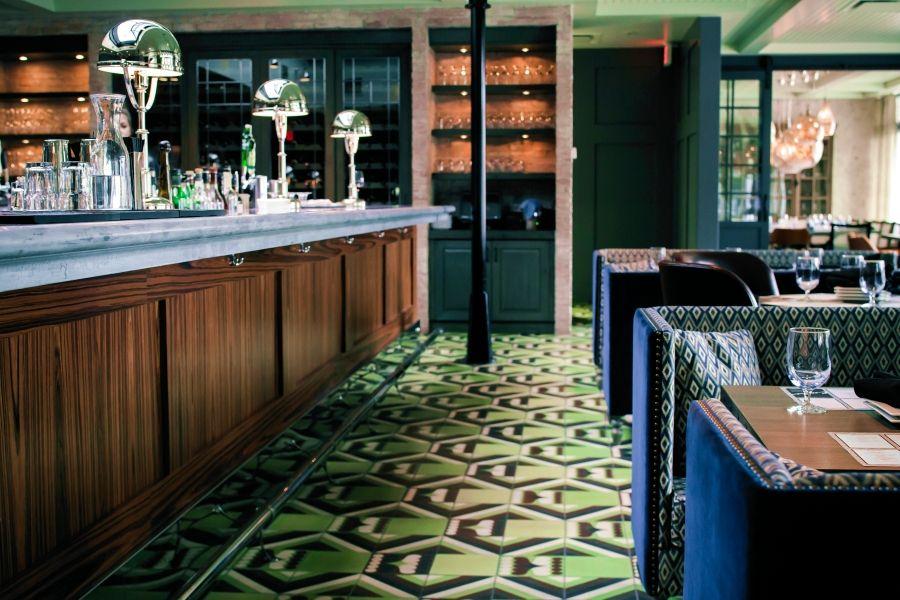 Candela Lounge, Calgary, Canada, 2012.  Design firm: Mckinley-Burkart, Kismet floor tile