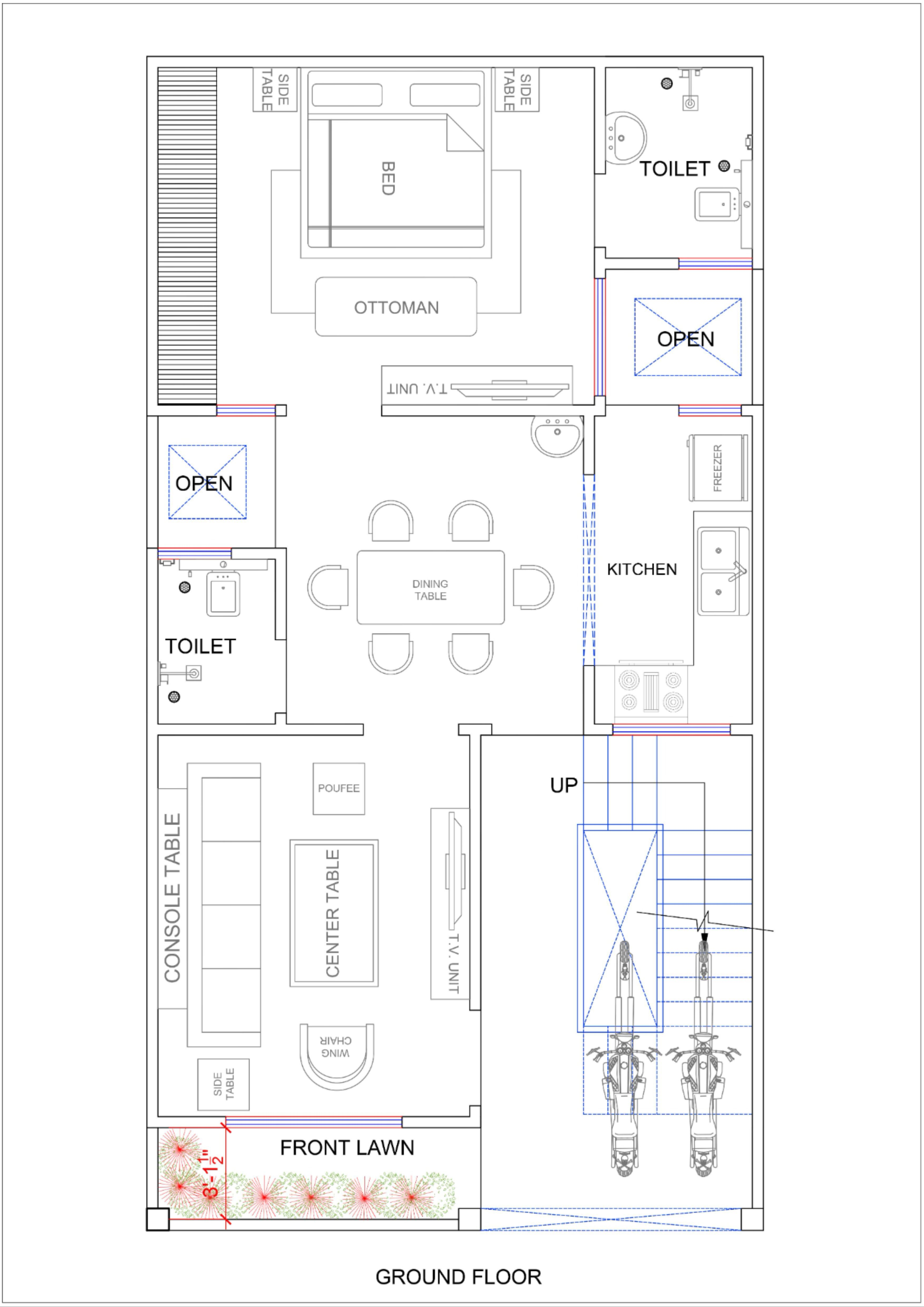 21x40 House Plan Indian House Plans Model House Plan How To Plan