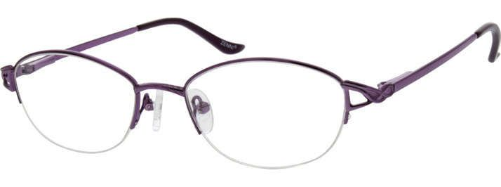 Order online, women purple half rim metal oval eyeglass frames model ...