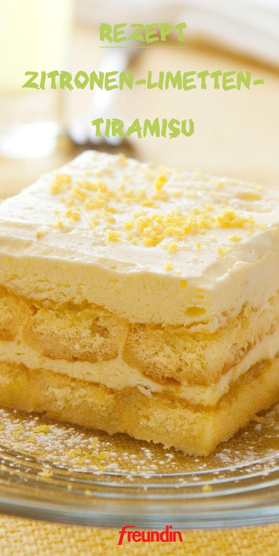 Rezept: Erfrischendes Zitronen-Limetten-Tiramisu | freundin.de