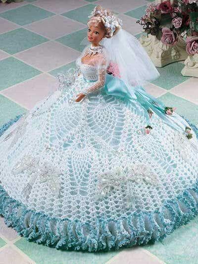 Lindo Vestido Crochet Crochet Doll Dress Crochet