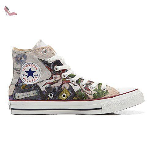 Converse Customized Adulte - chaussures coutume (produit artisanal) Floral Paisley size 33 EU 7H3l98a85