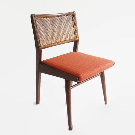 Four Vintage Danish Modern Dining Chairs Mid By Beehavenhome Orange Dining Room Chairs Mid Century Dining Chairs Danish Modern Dining Chair