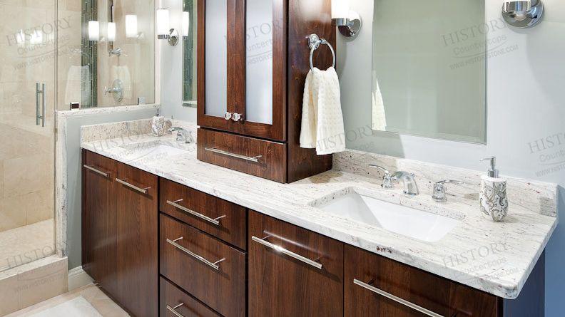 Best Cheap Brazil River White Granite Bathroom Vanity White