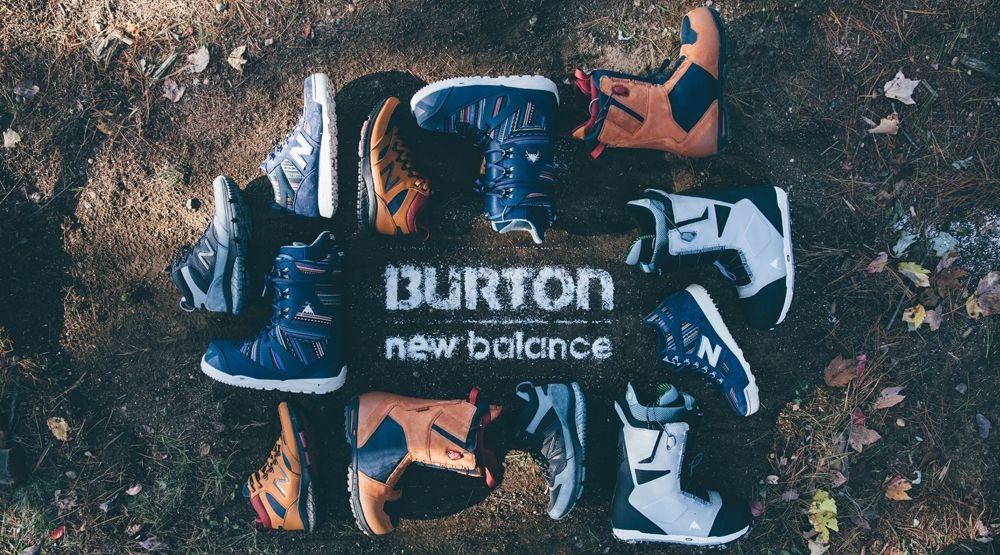 New Balance and Burton Bridge the Gap Between Snowboarders and Sneakerheads