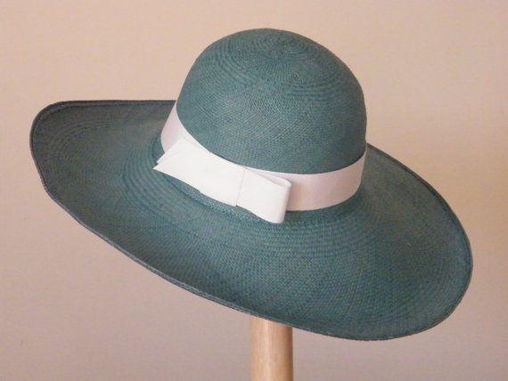 Turquoise Panama Hat Wide Brim Straw Sun Hat Women 39 S Elegant Summer Hat Large Ladies 39 Hat U Summer Straw Hat Womens Straw Hats Summer Hats For Women