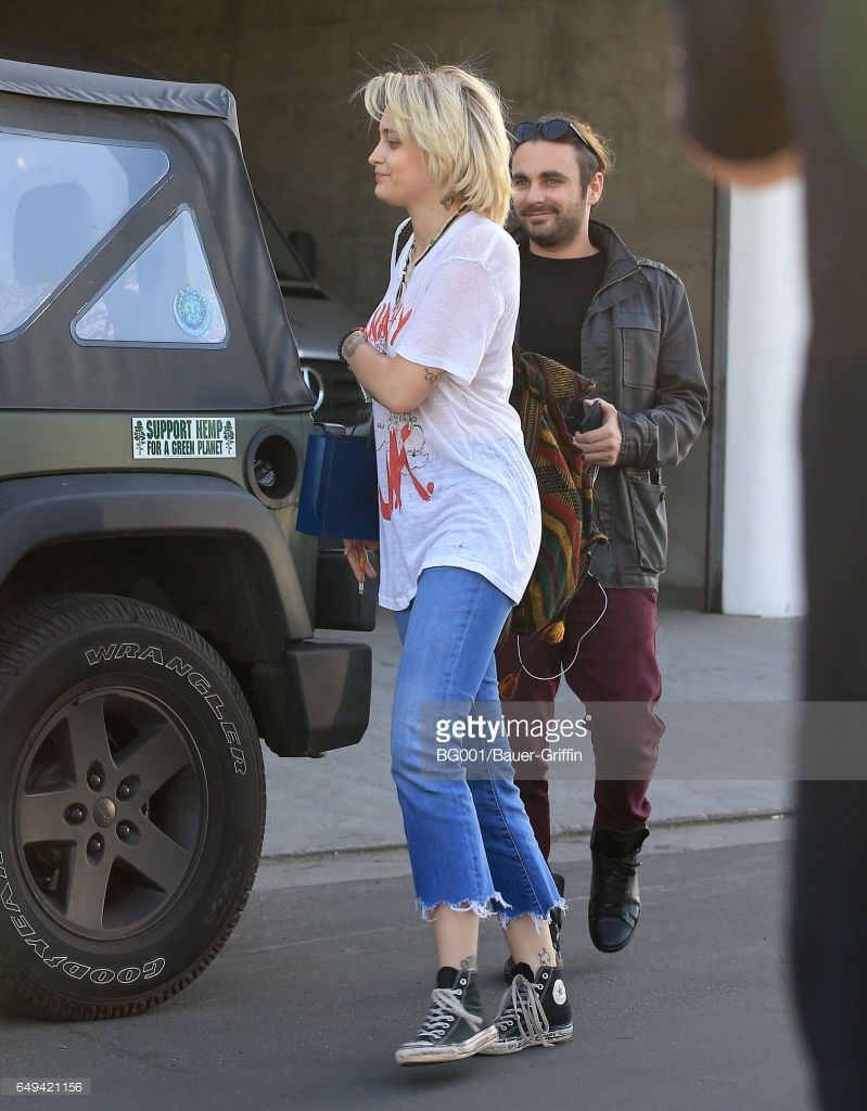Paris Jackson (age 18) is seen on March 7, 2017 in Los Angeles, CA.