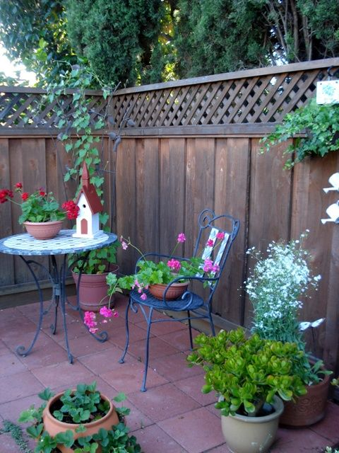 A nice little retreat in a yard