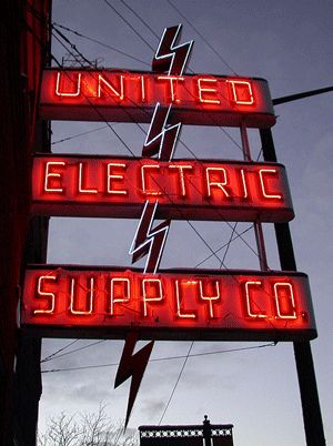 United Electric Supply Co. Neon Sign