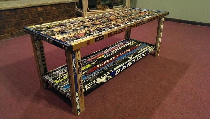 Hockey Stick Coffee Table Hockey Stick Furniture Coffee Table