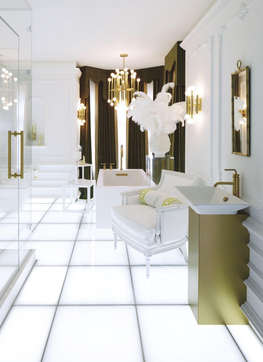 Disco-lit floors, retro hues and futuristic forms create a playful ...