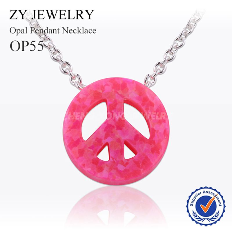 2016 new high quality synthetic peace sign opal pendant necklace 2016 new high quality synthetic peace sign opal pendant necklace for women mozeypictures Choice Image
