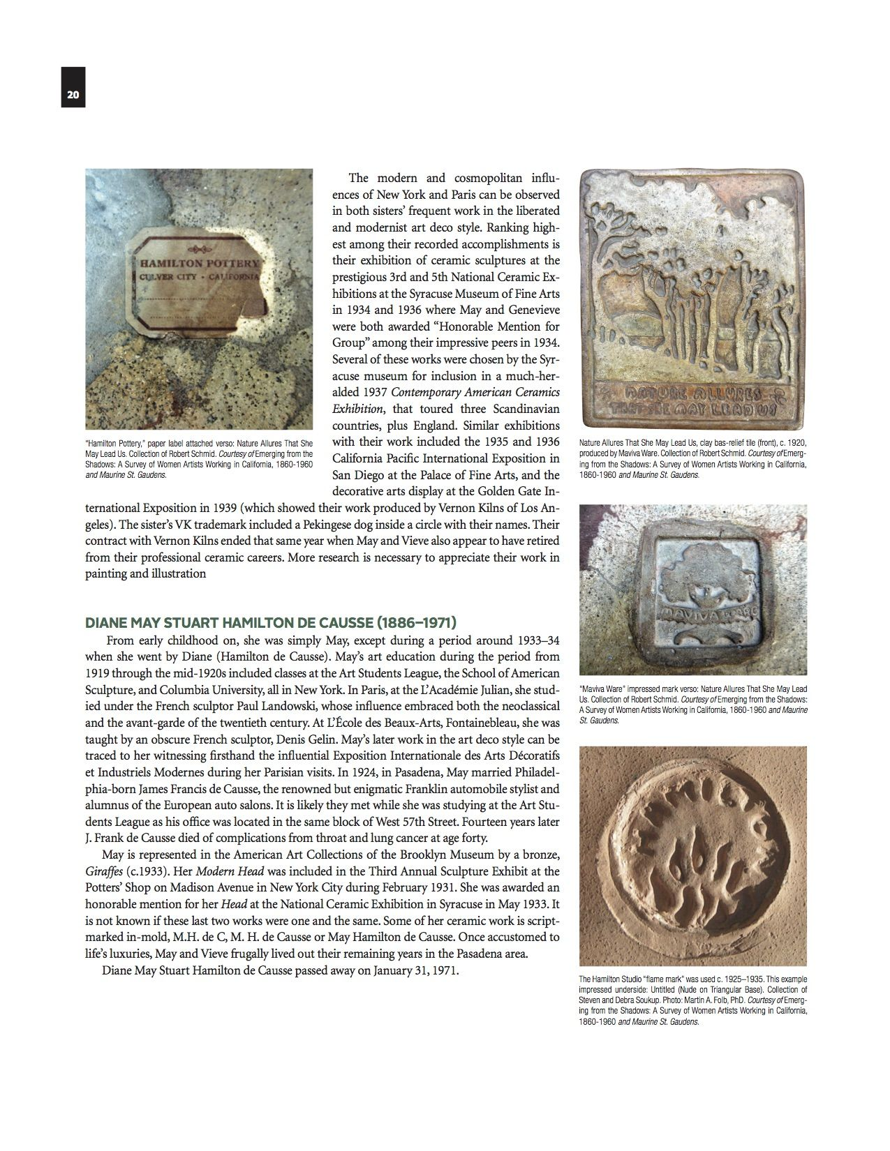P.20 Journal of the American Art Pottery Association, Fall 2016, Vol.