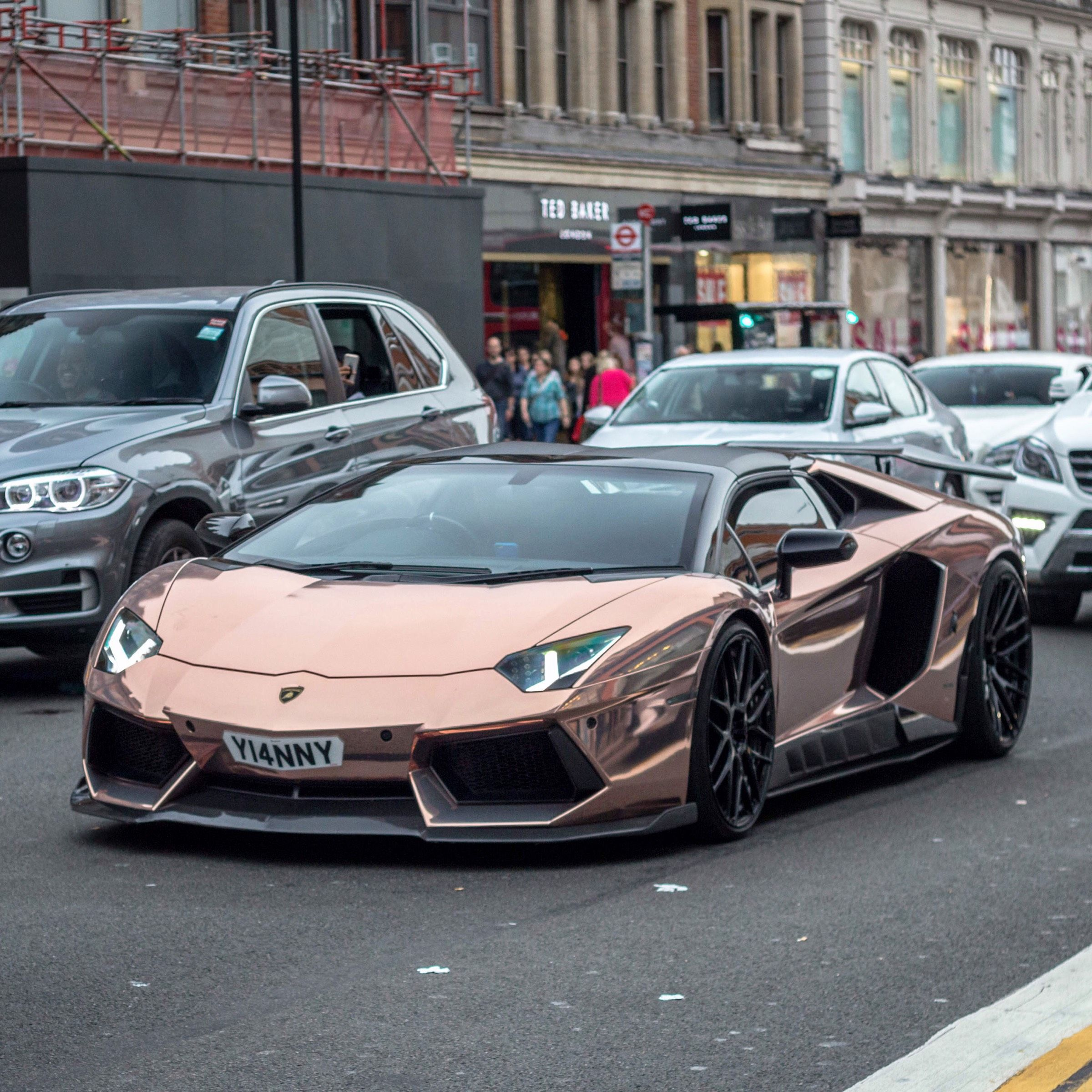 Lamborghini Aventador Rosegold Madwhips With Images Super