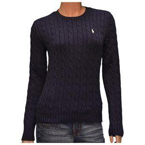 8d2e81f85 Polo Ralph Lauren Women s Crew Neck Cable Knit Sweater Navy