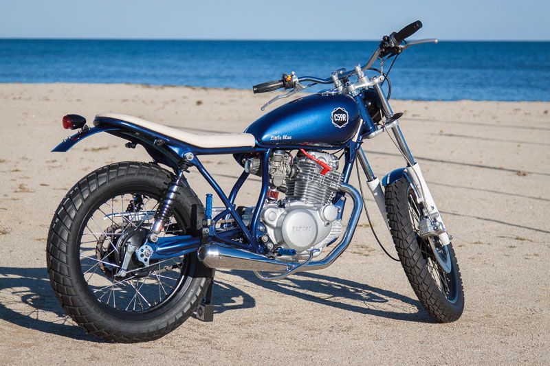 "c59r cafe racer motorcycles – c59r.2: yamaha sr250 ""little blue"