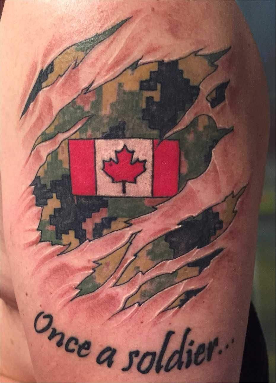 Name canadian flag ripping through skin tattoo designjpg pictures - Canadian Military Tattoos Rcaf Caf Cadpat
