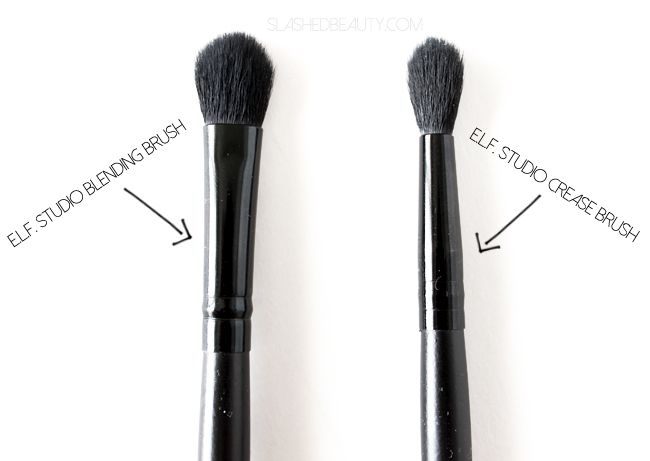 elf eyebrow brushes. review: e.l.f. studio blending brush \u0026 crease elf eyebrow brushes