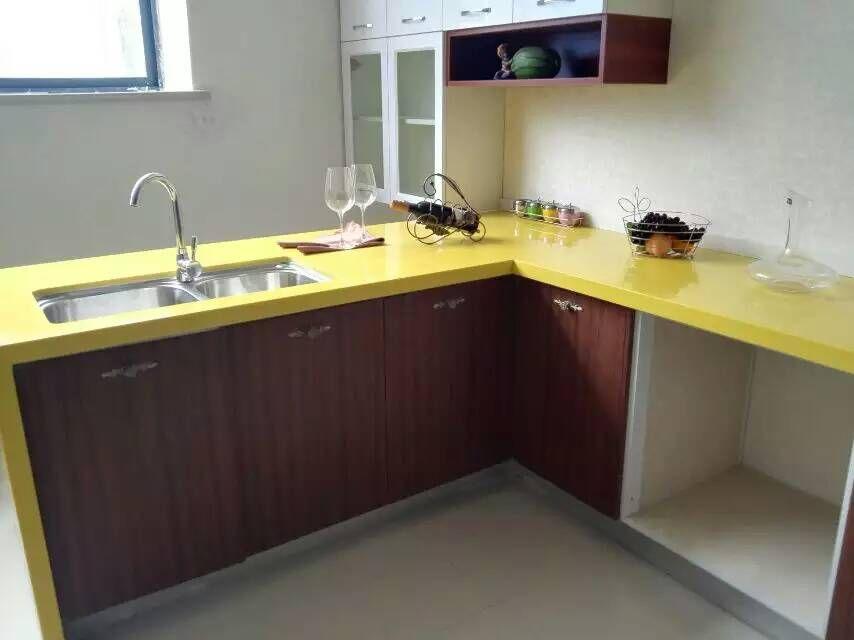 Solid Yellow Color Engineered Quartz L