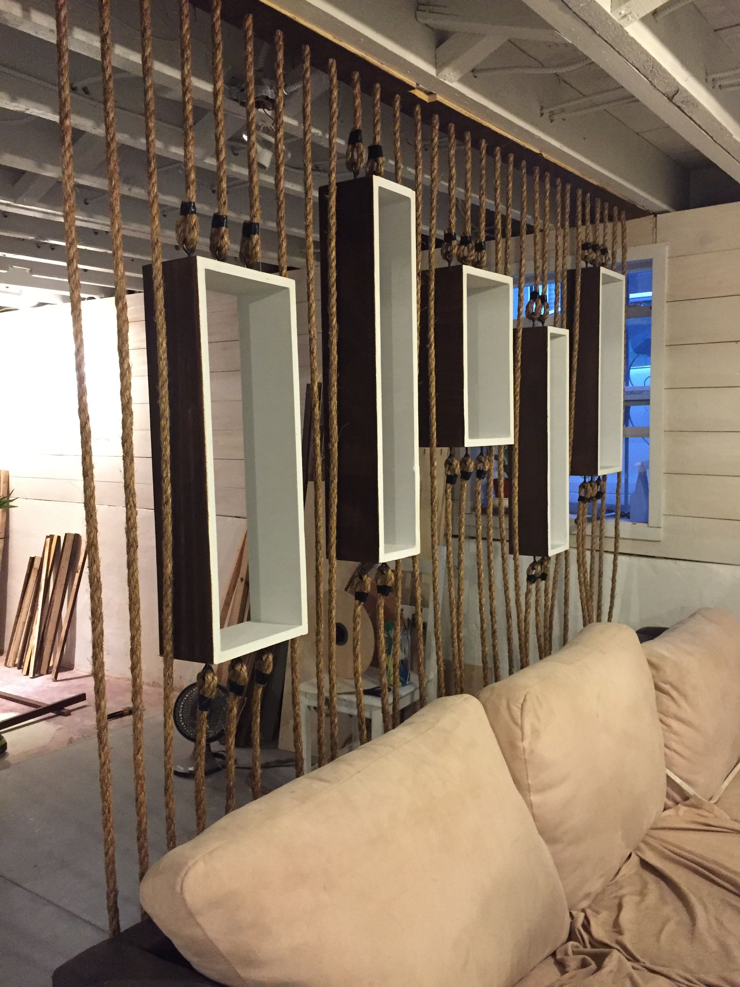 Project Diy Rope Wall Separator Modern Partition Walls Wall