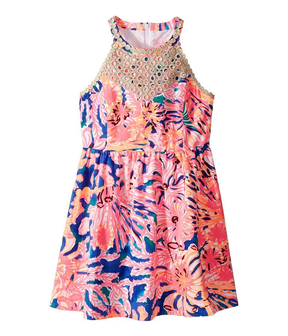60a916431374c5 Lilly Pulitzer Kids Kinley Dress (Toddler/Little Kids/Big Kids) Girl's Dress  Multi/Swirling Seadream