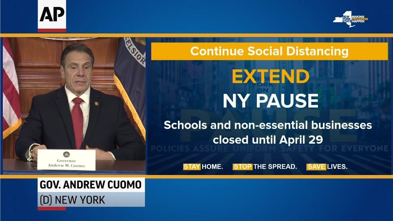 Cuomo Extends Stay At Home Order Doubles Fines Youtube In 2020 Extended Stay Stay At Home Extended