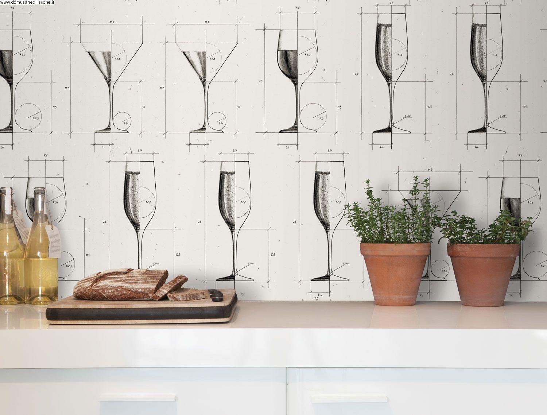 Carta da parati per cucina | Tappezzerie d\'arredo | Pinterest ...