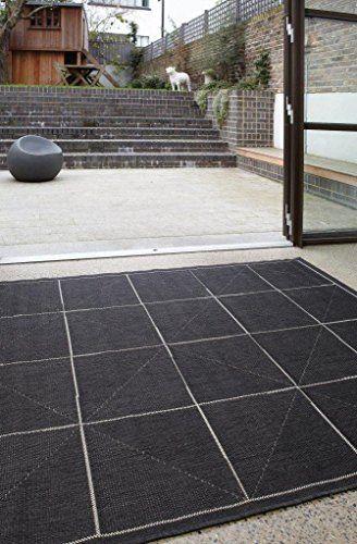 Teppich Wohnzimmer Carpet modernes Design PATIO RECHTECK RUG 100 - Teppich Wohnzimmer Braun