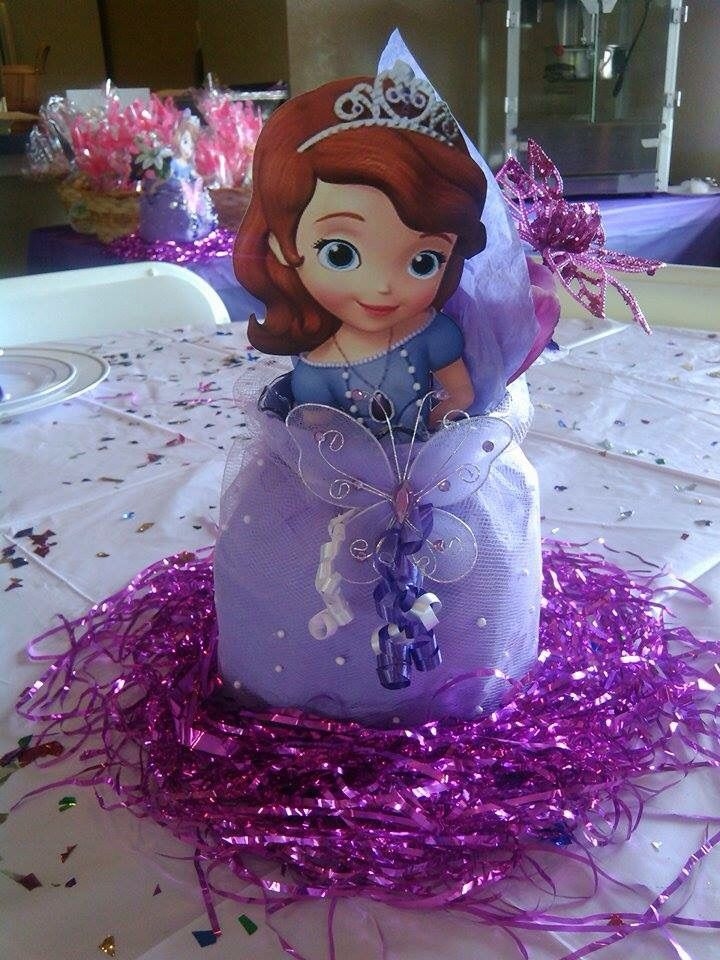 Sofia the first centerpiece | Sofia the first birthday ...