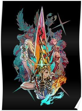 Xenoblade Chronicles 2 Team Poster By Swish Design In 2021 Xenoblade Chronicles Xenoblade Chronicles 2 Chronicle 2
