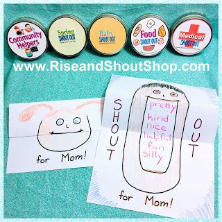 Cute Easy Template For Mother S Day Toothy Grin Shout Out Card Freebie From Rise And Shout Shop Shout Out Game Cards My Etsy Shop