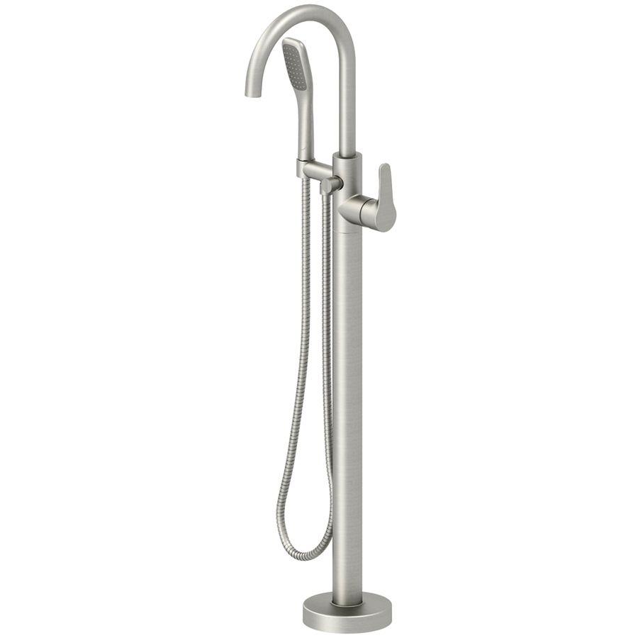 Jacuzzi Primo Brushed Nickel 1-Handle Fixed Freestanding Bathtub ...