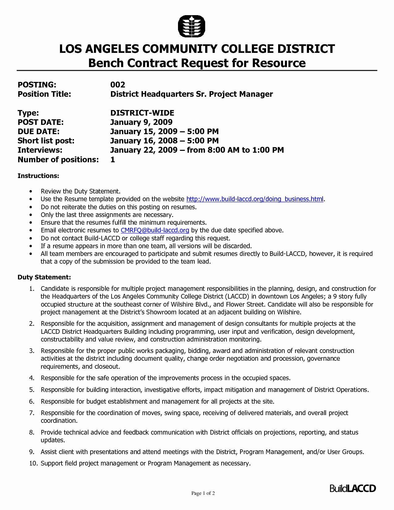 25 Construction Project Manager Resume Template in 2020