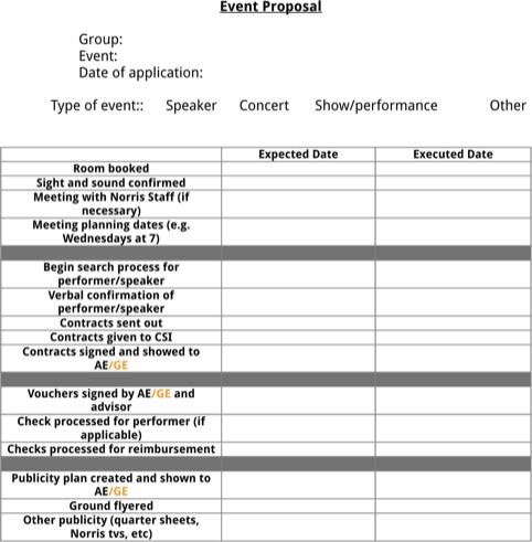 Event Proposal Template Templatesforms Pinterest Event